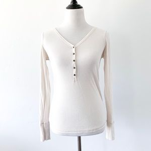 Abercrombie and Fitch Cream Thermal Long Sleeve